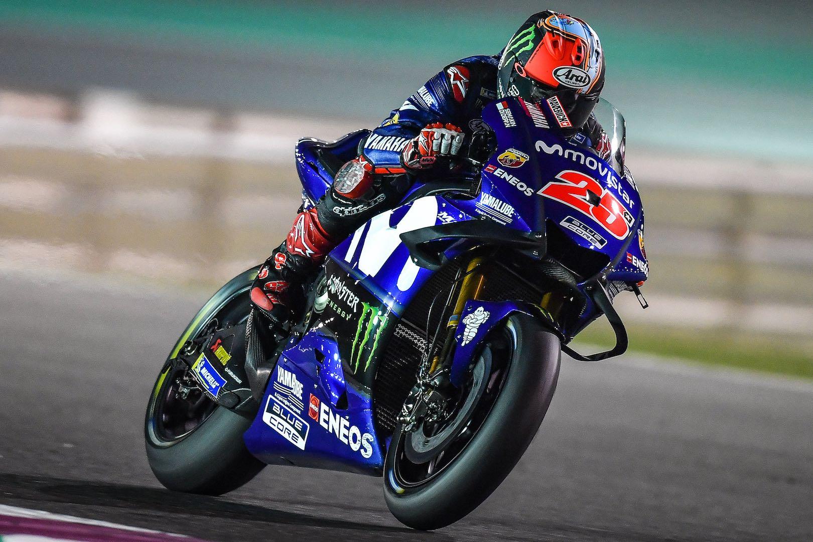 2018 Qatar Motogp Test Day 1 Yamaha S Vinales Just Tops Ducati S