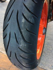 Bridgestone Battlax Sport Touring T31 rear profile