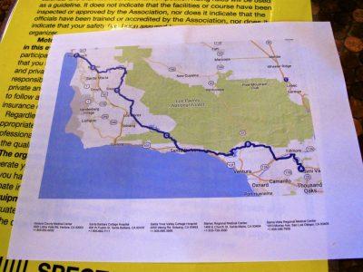 Riding the Kawasaki Z900RS to the Quail a map