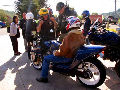 Riding the Kawasaki Z900RS to the Quail motorcycles