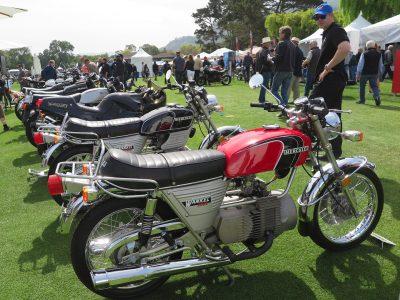 Riding the Kawasaki Z900RS to the Quail vintage bikes