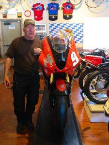 Riding the Kawasaki Z900RS to the Quail celebrities