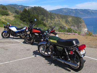 Riding the Kawasaki Z900RS to the Quail classics