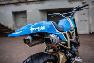 Ducati Maverick Scrambler by GRIME exhaust