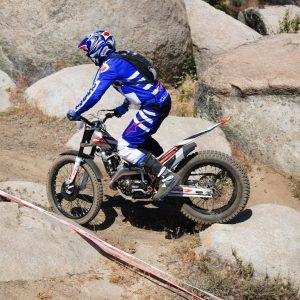 2018 Beta Trials Day At MotoVentures between rocks