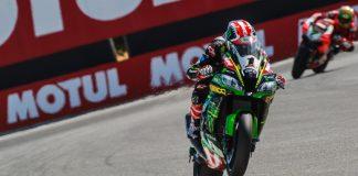 2018 Laguna Seca World Superbike Kawasaki's Jonathan Rea