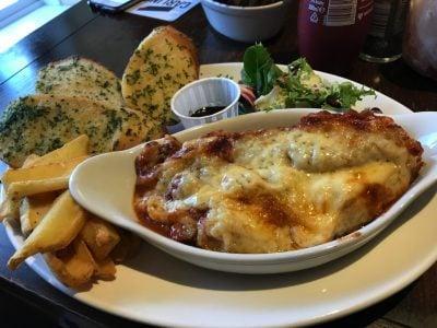 Lasagna at The Victoria Inn, Roch