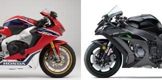 2018 Honda CBR1000RR SP vs. 2018 Kawasaki Ninja ZX-10R Superbike Comparison - Track Shootout