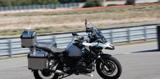 BMW R 1200 GS Autonomous Motorcycle in action