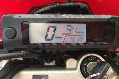 2019 Honda CRF450L gauges