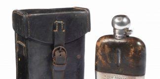Rem Fowler 1907 win Isle of Man TT Hip Flask