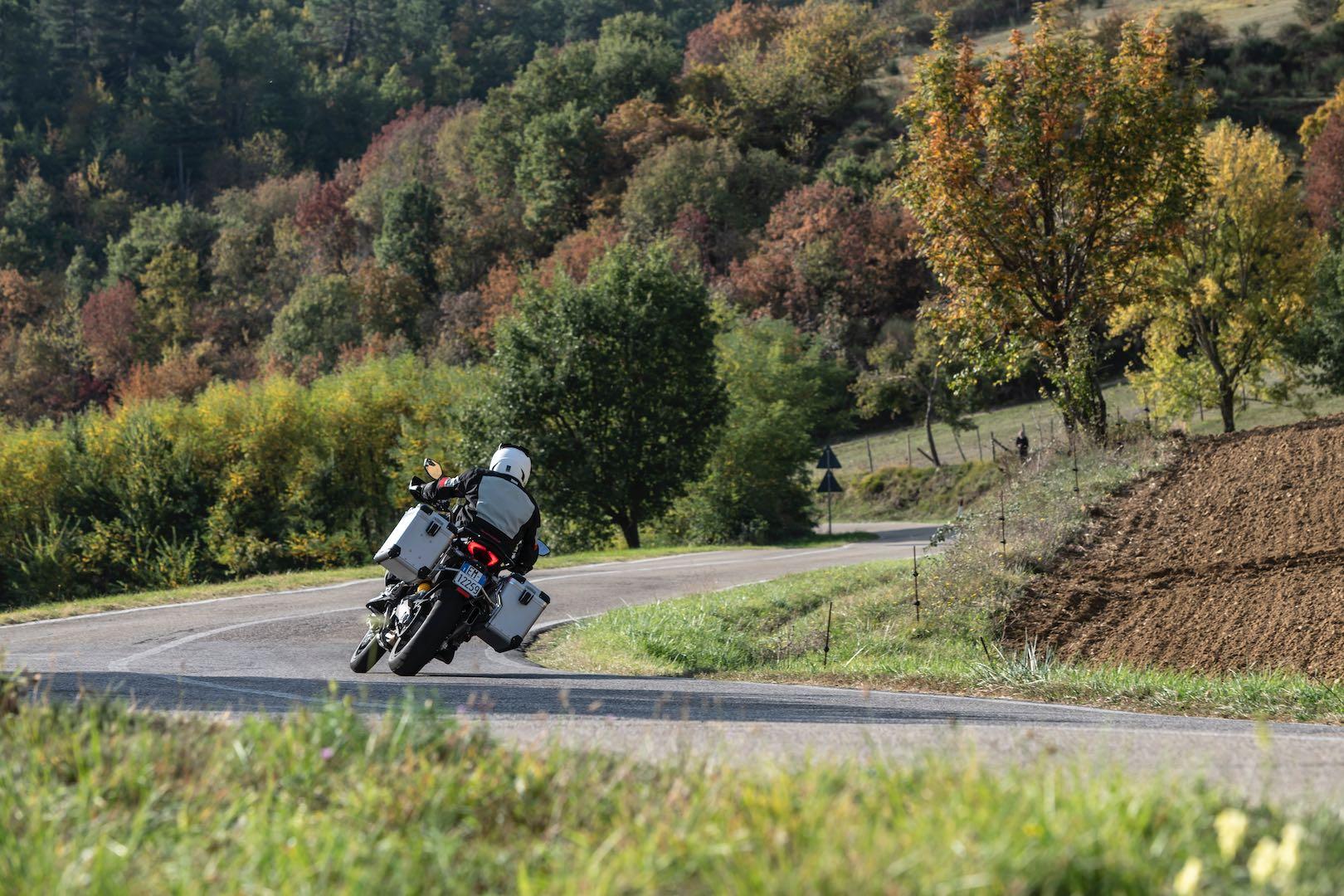 2019 Ducati Multistrada 1260 Enduro lean angle