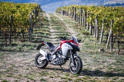 2019 Ducati Multistrada 1260 Enduro in vineyards