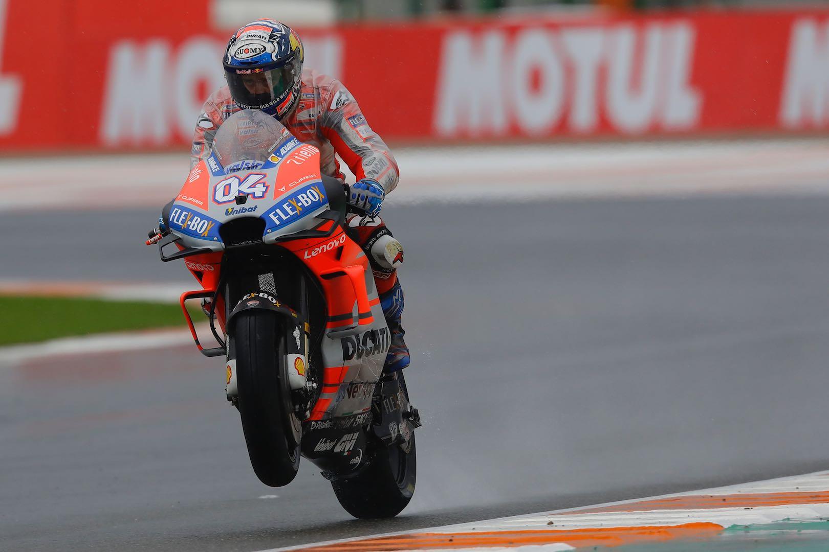 Valencia MotoGP Friday Practice Ducati Andrea Dovizioso