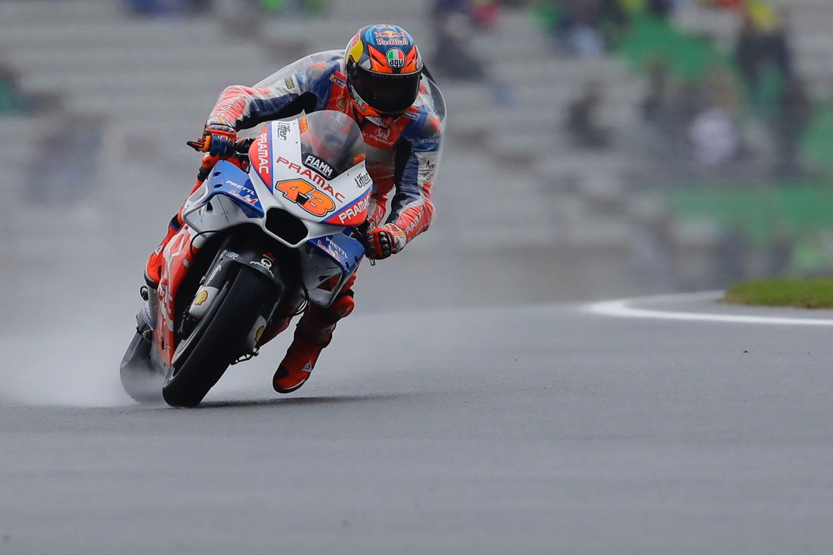 Valencia MotoGP Friday Practice Ducati's Mark Miller