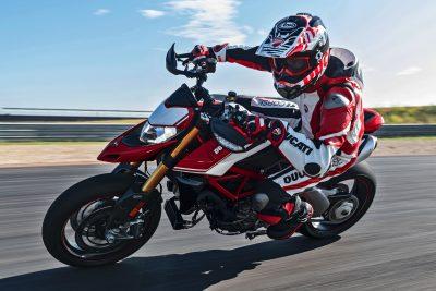 2019 Ducati Hypermotard 950 SP on the track