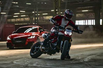 2019 Ducati Hypermotard 950 SP in action