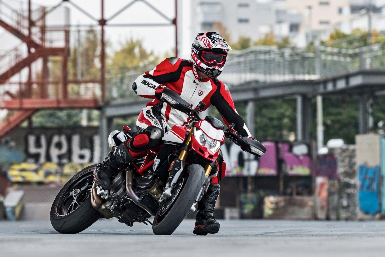 2019 Ducati Hypermotard 950 SP on motard style