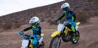 Mother, Daughter, and Dirt Bikes - Suzuki off-road