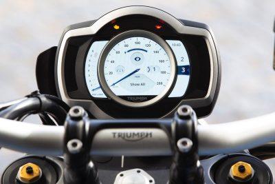2019 Triumph Scrambler 1200 XC gauges day