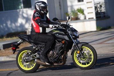 2018 Yamaha MT-07 riding