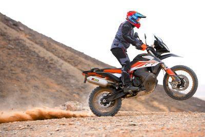 2019 KTM 790 Adventure wheelie