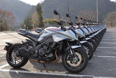 2020 Suzuki Katana in line