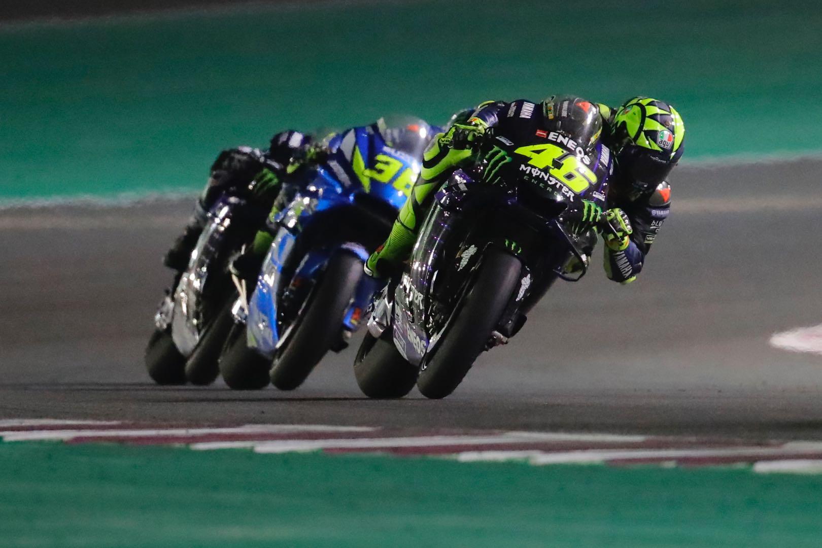 Valentino Rossi at 2019 Qatar MotoGP finish