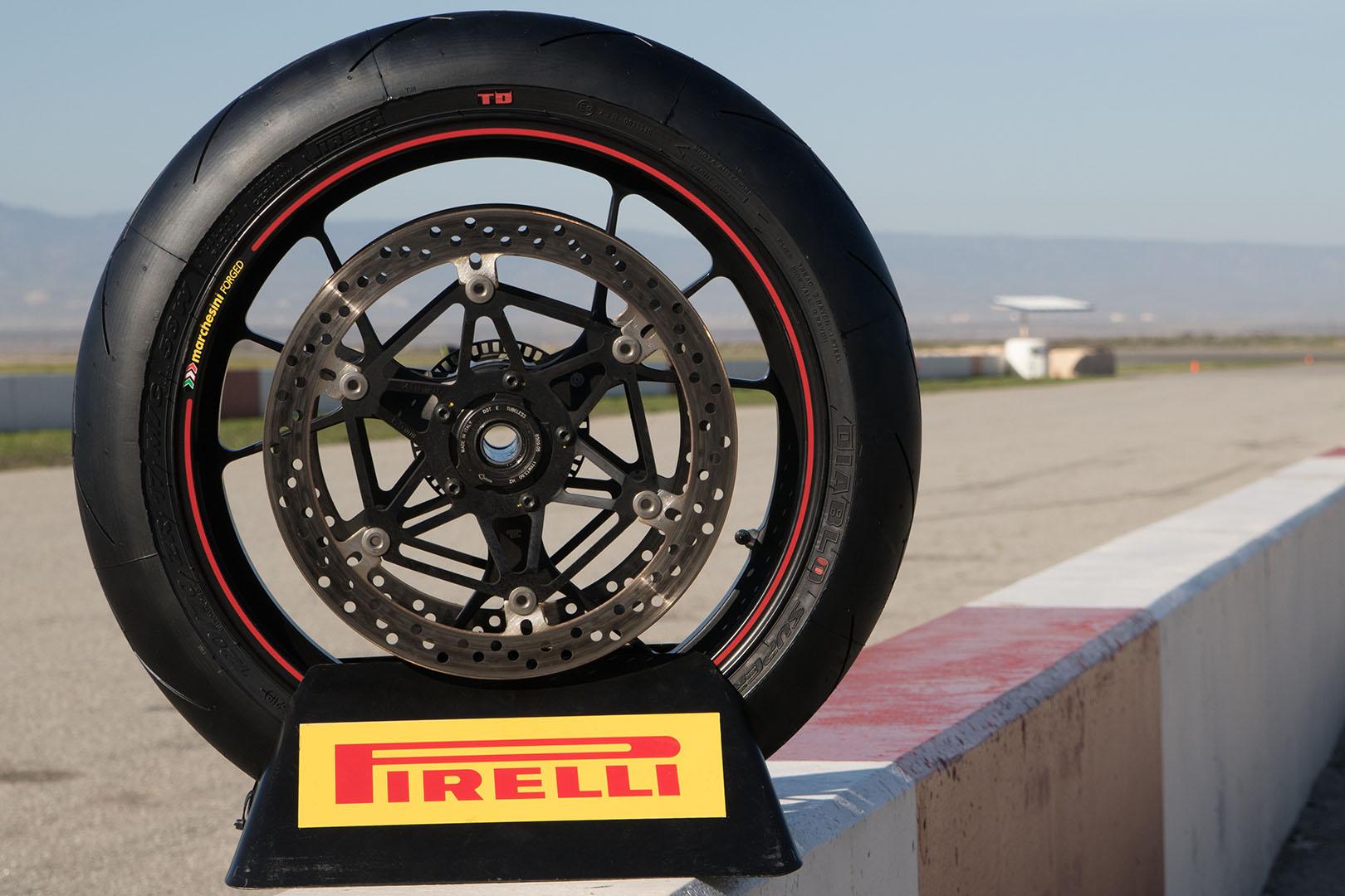 Pirelli Diablo Supercorsa TD Track Tire - pit wall