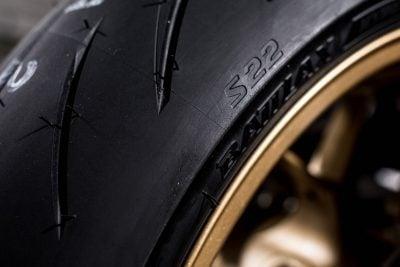 Bridgestone S22 rear tire