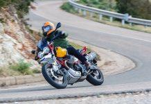 Moto Guzzi V85 TT Test - Right sweeper