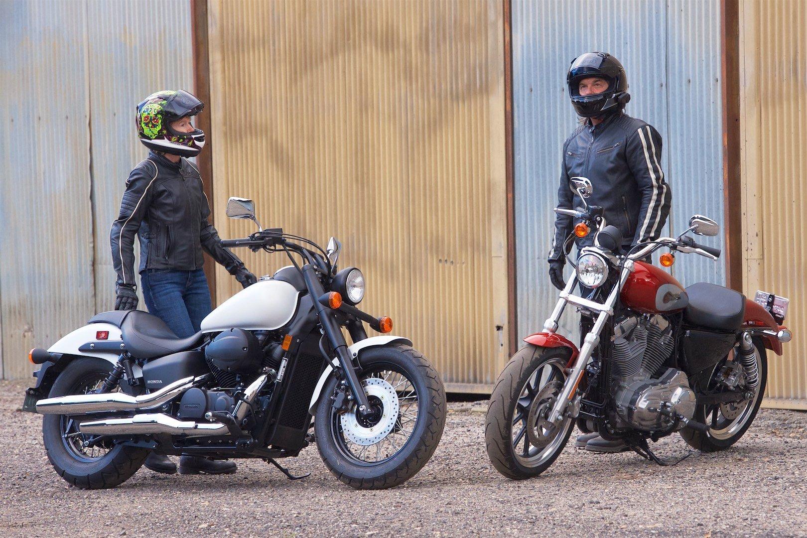 Honda and Harley comparison: Shadow Phantom Vs Sporster Superlow