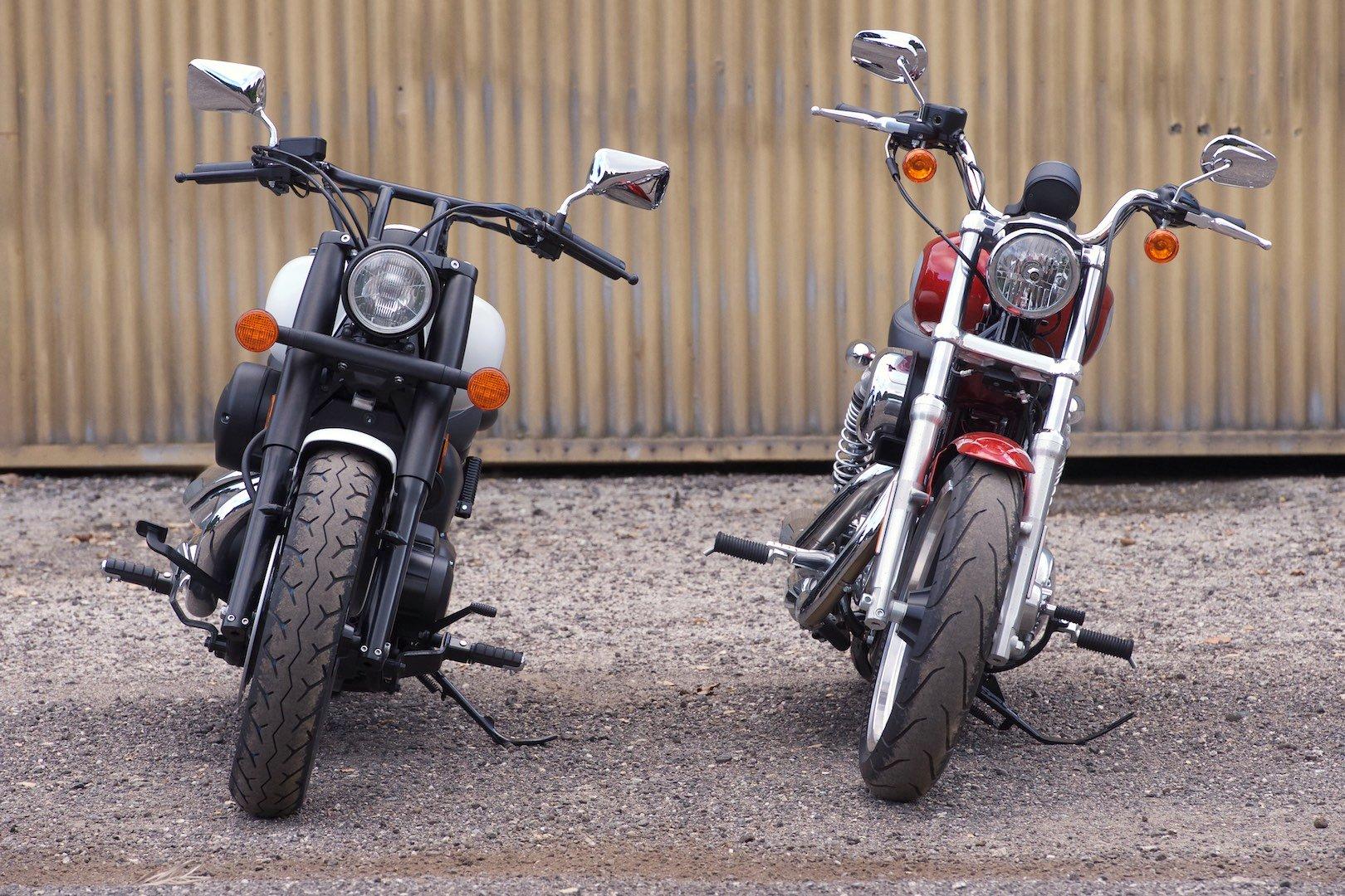 Honda Shadow vs Harley Sportster Superlow