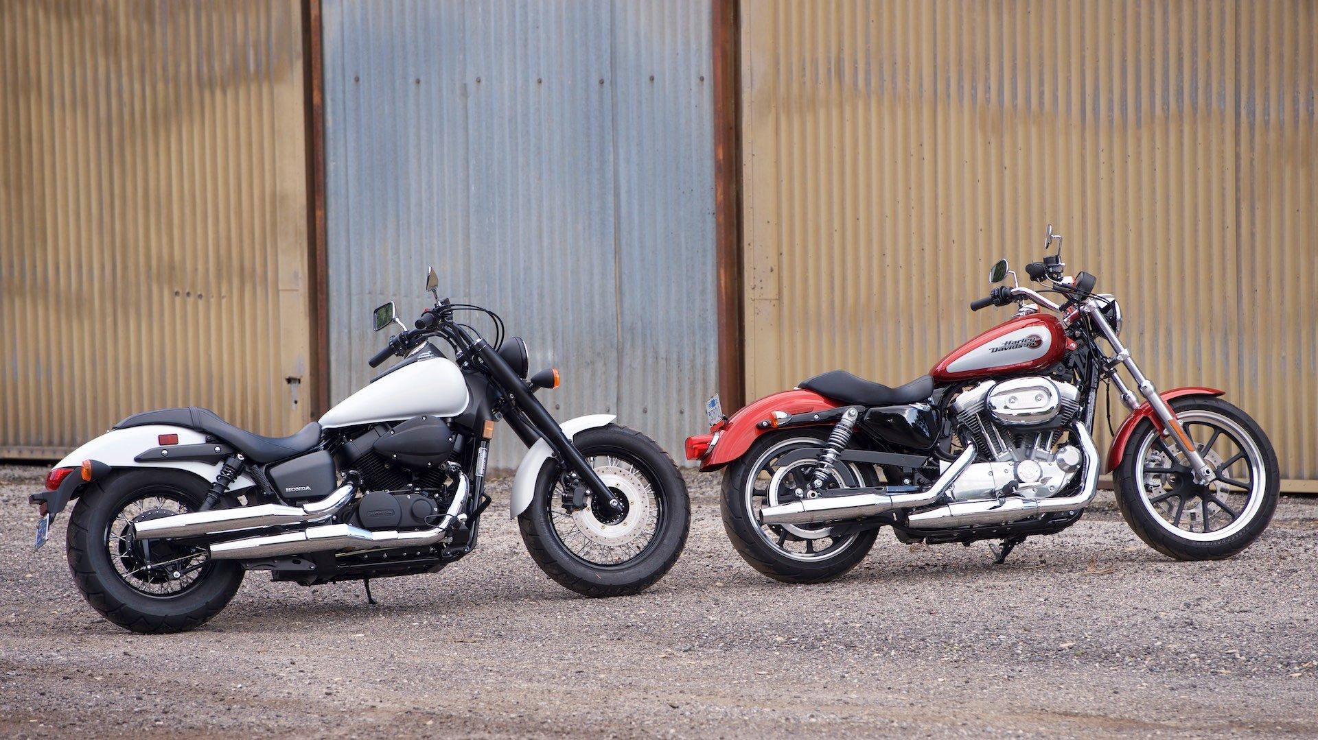 2019 Harley Sportster Superlow vs  2019 Honda Shadow Phantom