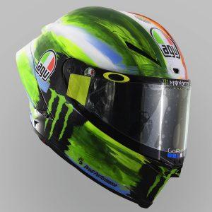 Valentino Rossi and AGV Reveal 2019 Mugello Pista GP R Helmet - green blue white