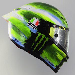 Valentino Rossi and AGV Reveal 2019 Mugello Pista GP R Helmet - right profile blue green white