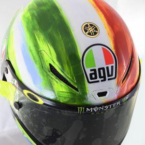 Valentino Rossi and AGV Reveal 2019 Mugello Pista GP R Helmet - top Italian flag and logos