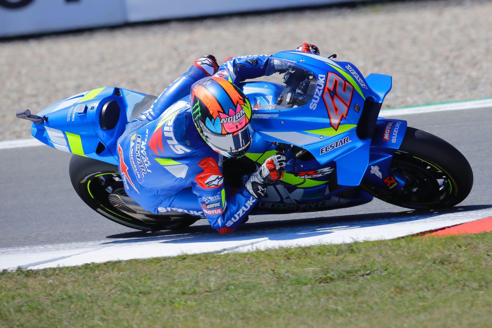 Suzuki's Alex Rins MotoGP Qualifying 2019 Assen
