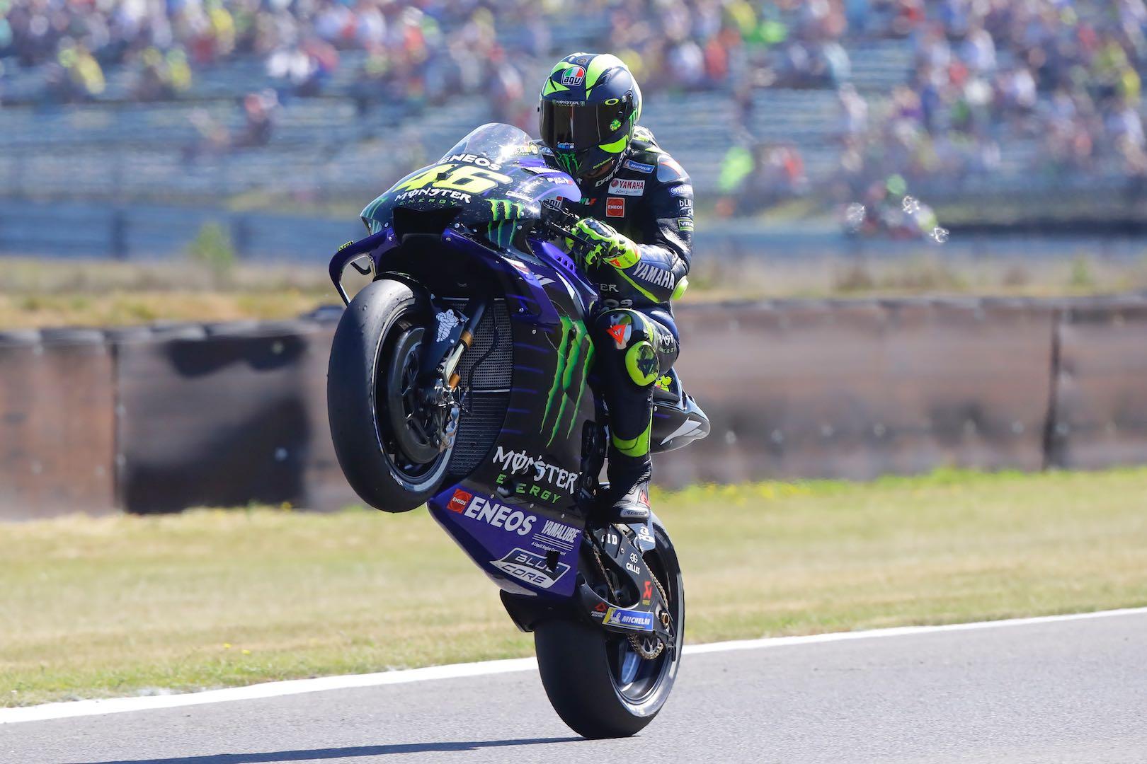 Yamaha's Valentino Rossi at MotoGP Qualifying 2019 Assen