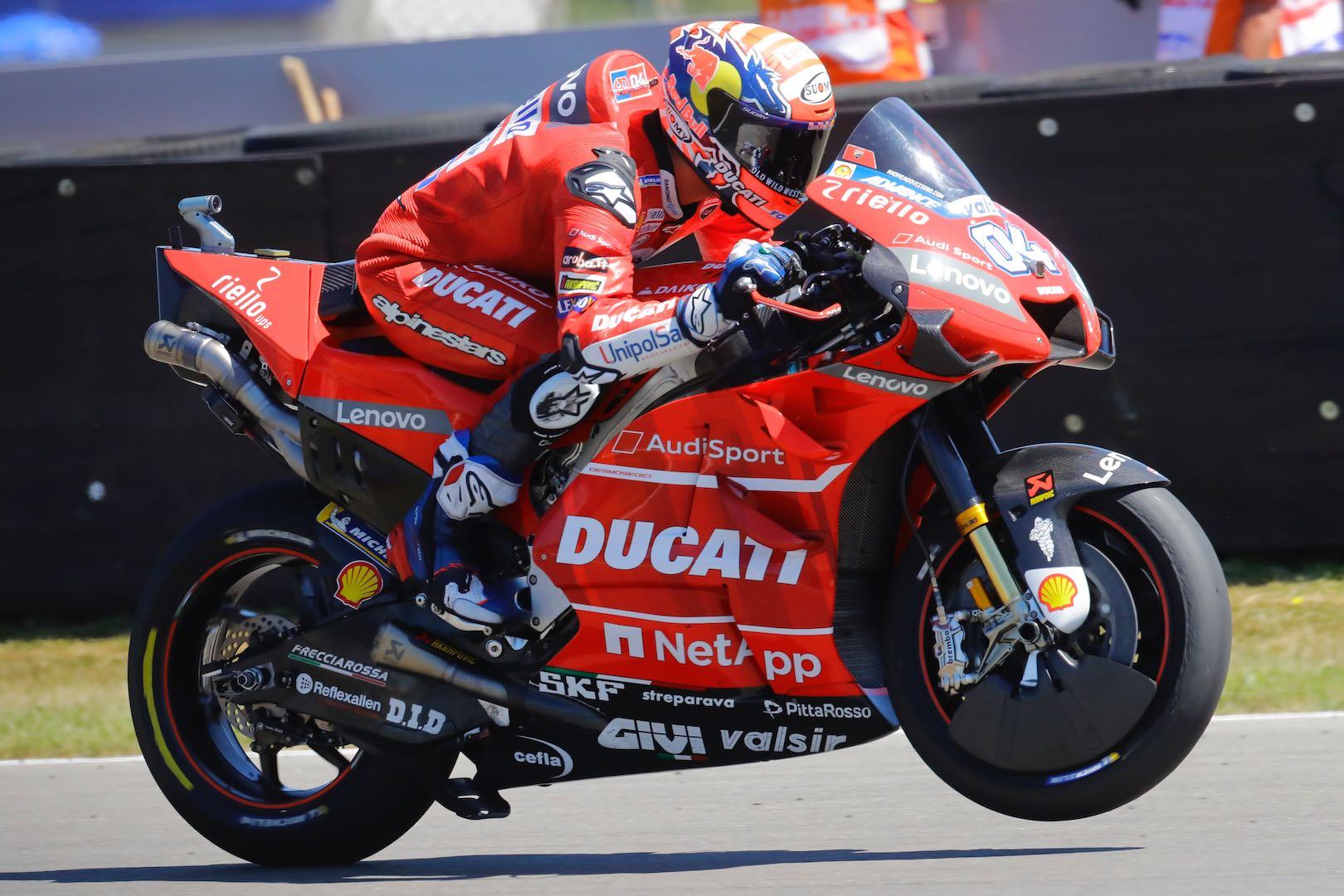 Ducati's Andrea Dovizioso at Assen MotoGP Qualifying 2019