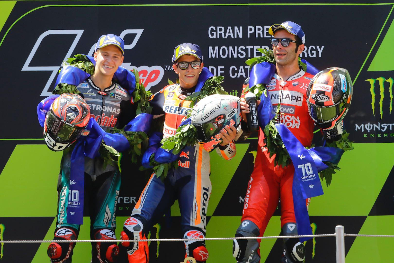 Podium finishers at Catalan GP 2019