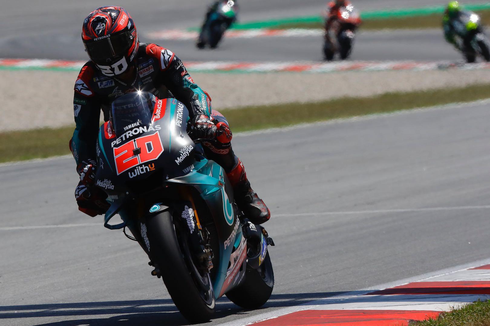 Petronas Yamaha SRT rider Fabio Quartararo at Catalan MotoGP