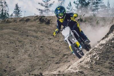 Electric motocross racing motorcycle