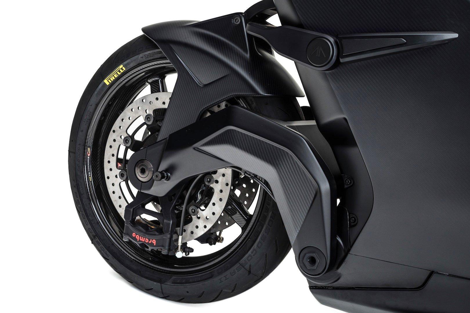 Arc Vector Electric Motorcycle - hub steering front wheel
