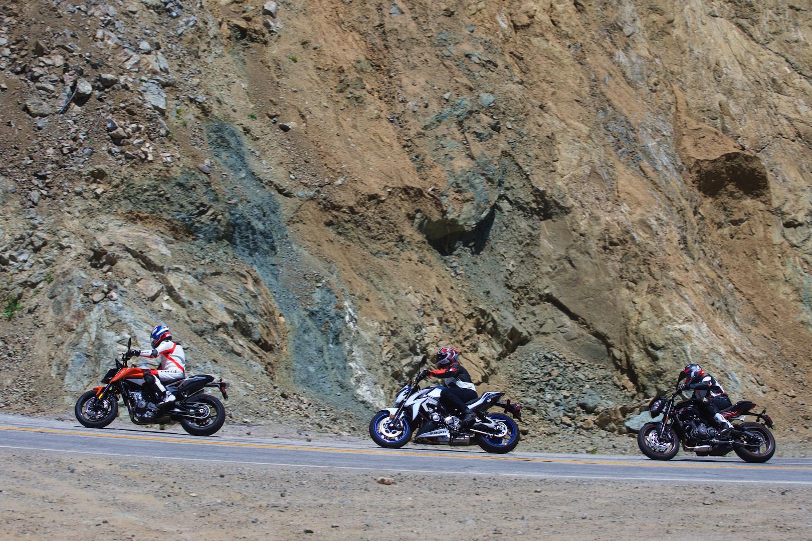 KTM Vs Triumph Vs Suzuki Naked Sportbike