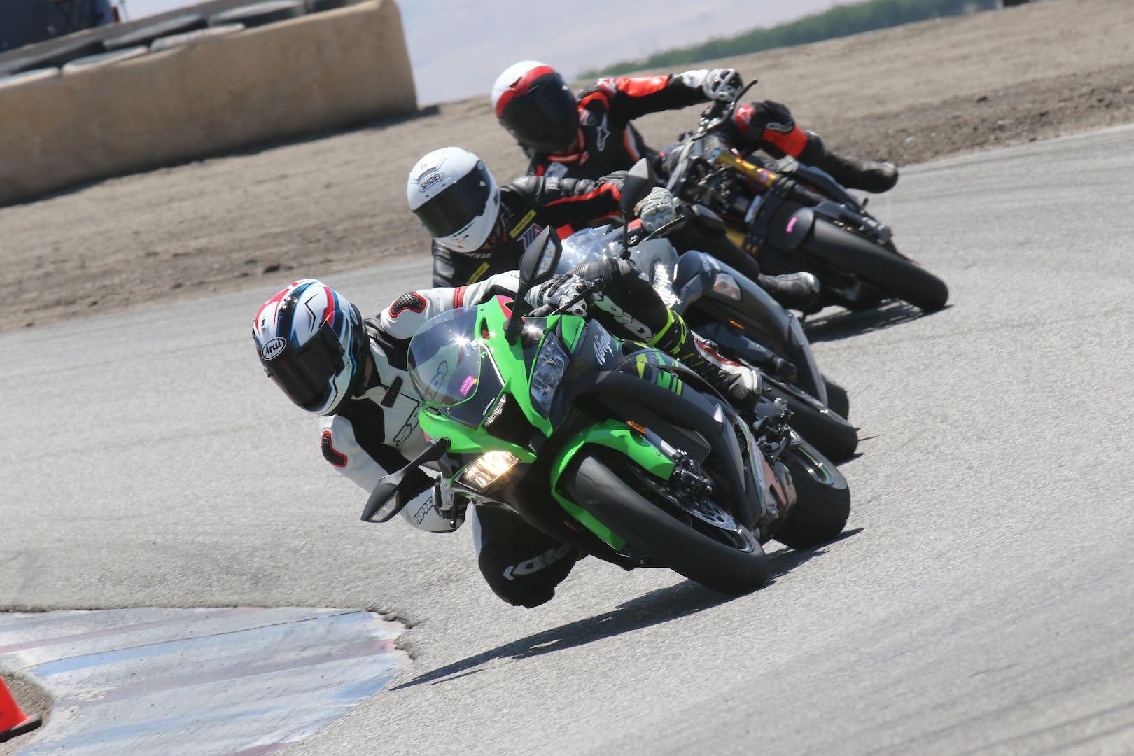 Nic de sena riding with Chris Filmore and Carlin Dunne