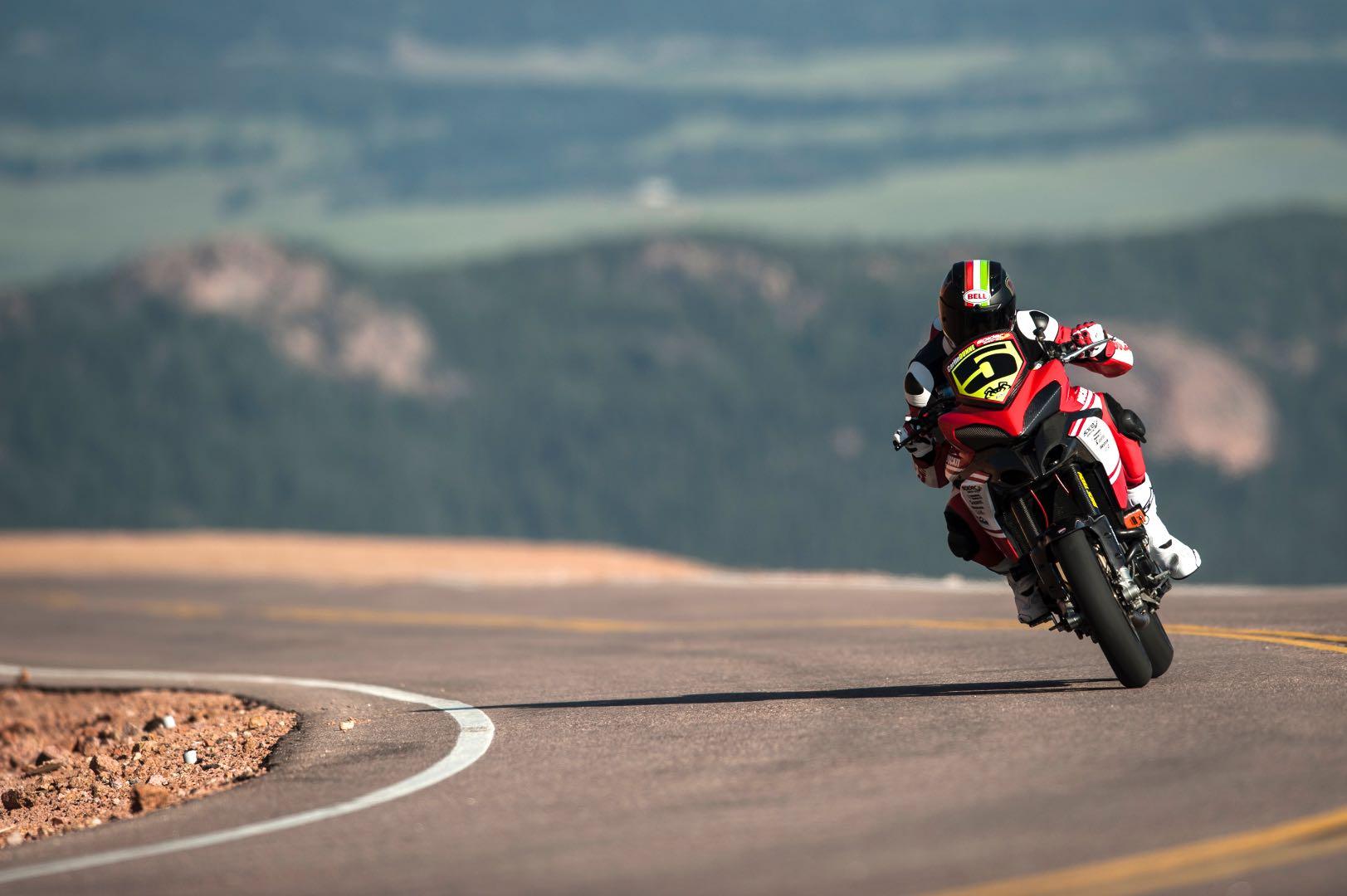 dunne sets record lap on Ducati Multistrada