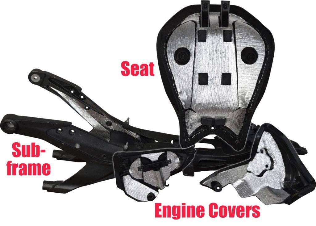 Ducati Spacers Heat Shield Kit