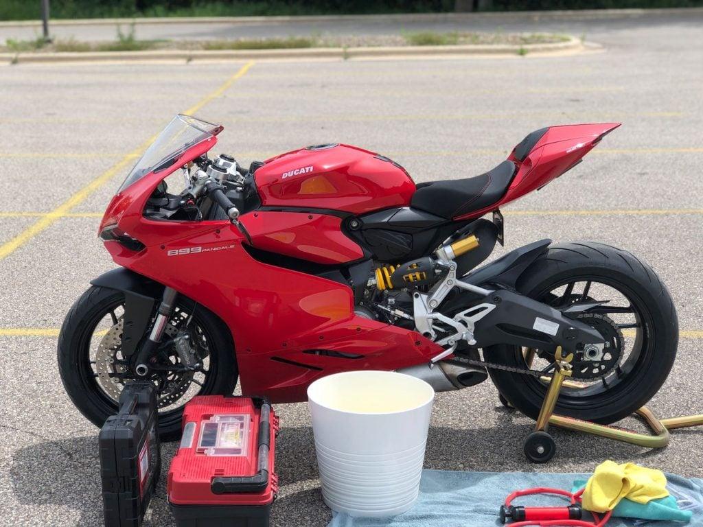 Ducati Panigale Heat shield Installation