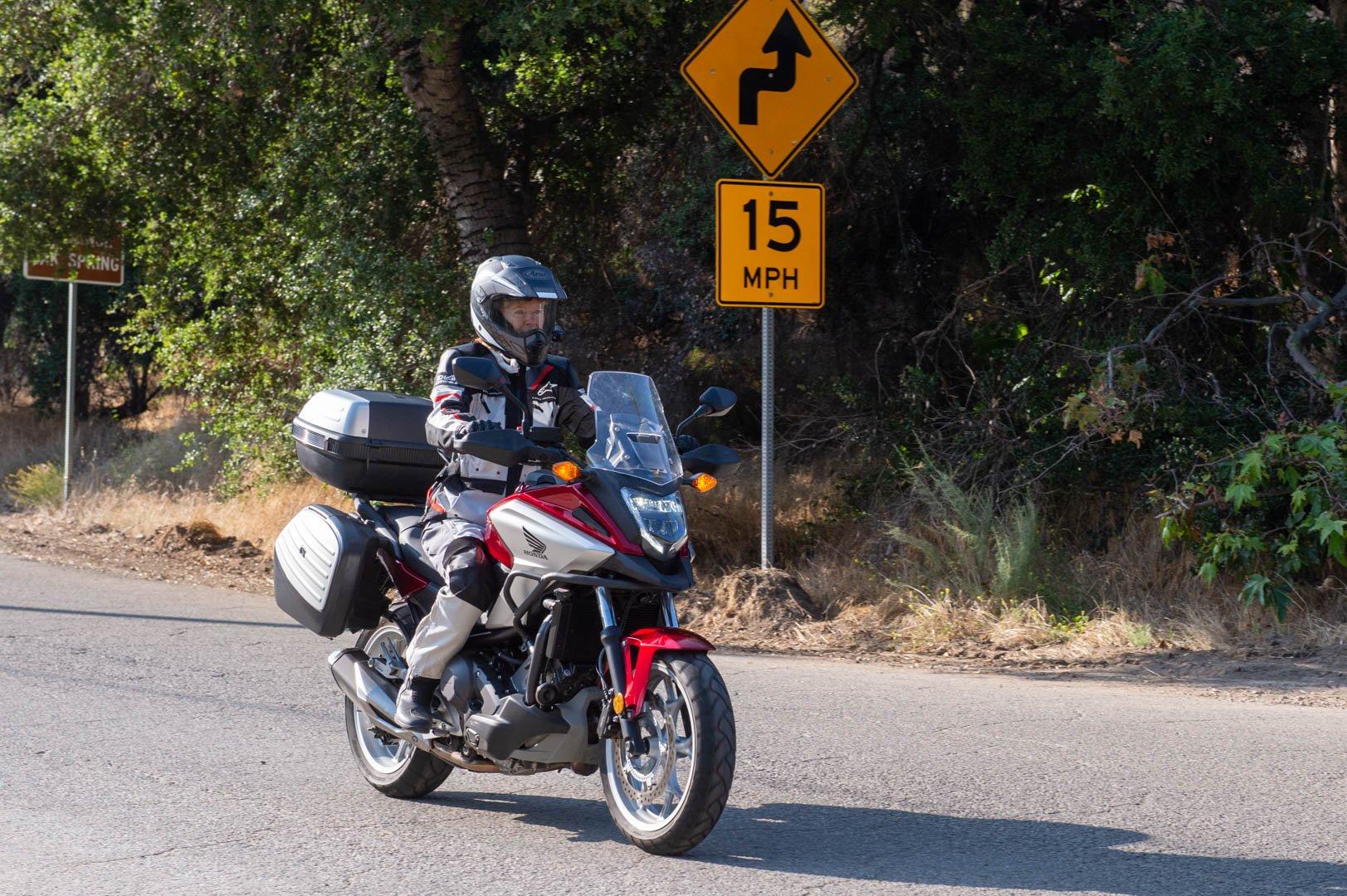 Honda NC750X DCT ABS test